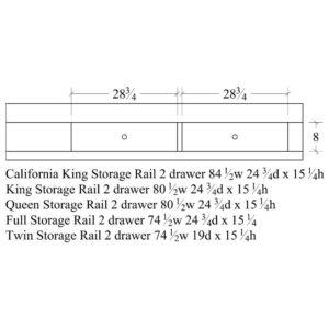 Chandler California King Storage Rail by Amish Crafted by Noah Bontrager