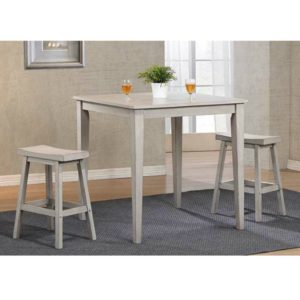 Carmel 3-Piece Dining Set (Gray) by Winners Only
