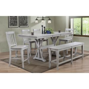 Carmel 6-Piece Tall Dining Set (Gray) by Winners Only
