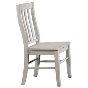 Carmel Rake Back Side Chair (Gray) by Winners Only
