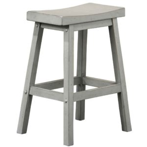 Carmel 24″ Saddle Barstool (Gray) by Winners Only