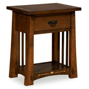 Castlebrook 1-Drawer Night Stand by Amish Crafted by Noah Bontrager