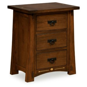 Castlebrook 3-Drawer Night Stand by Amish Crafted by Noah Bontrager