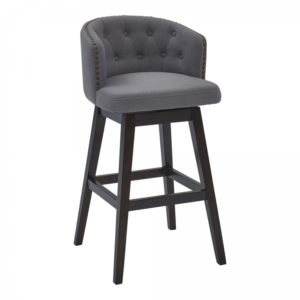 Celine Swivel Stool (Gray/Espresso) by Lee Jay