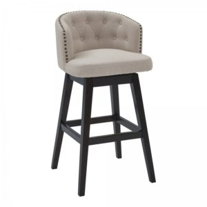 Celine Swivel Stool (Tan/Espresso) by Lee Jay