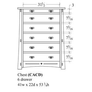 Castlebrook 6 Drawer Chest by Amish Crafted by Noah Bontrager
