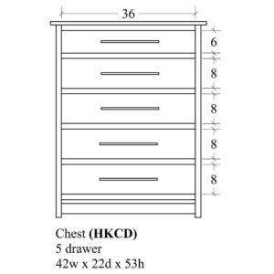 Hyde Park 5 Drawer Chest by Amish Crafted by Noah Bontrager