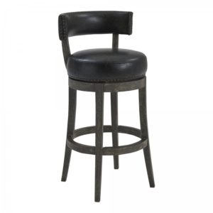 Corbin Swivel Stool (American Gray/Onyx) by Lee Jay
