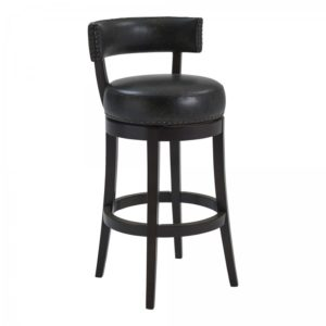 Corbin Swivel Stool (Espresso/Brown Onyx) by Lee Jay