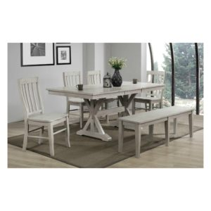 Carmel 6-Piece Dining Set (Gray) by Winners Only