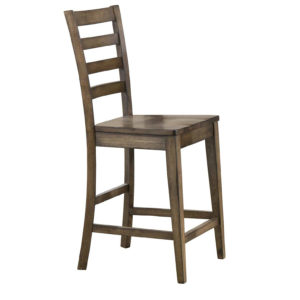 Carmel 24″ Ladderback Barstool (Rustic Brown) by Winners Only