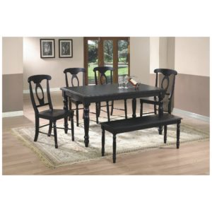 Quails Run 6-Piece Dining Set (Ebony) by Winners Only