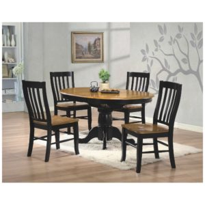 Quails Run 5-Piece Dining Set (Almond/Ebony) by Winners Only