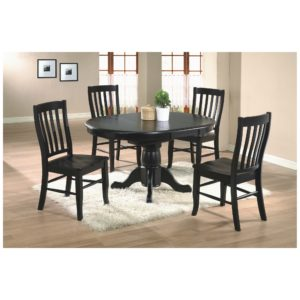 Quails Run 5-Piece Dining Set (Ebony) by Winners Only