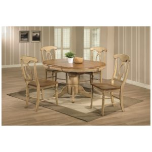 Quails Run 5-Piece Dining Set (Almond/Wheat) by Winners Only