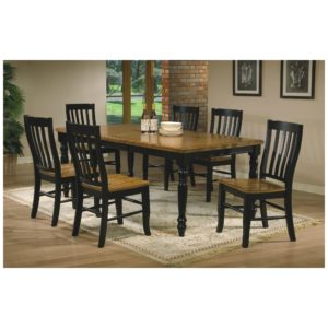 Quails Run 7-Piece Dining Set (Almond/Ebony) by Winners Only