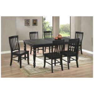Quails Run 7-Piece Dining Set (Ebony) by Winners Only