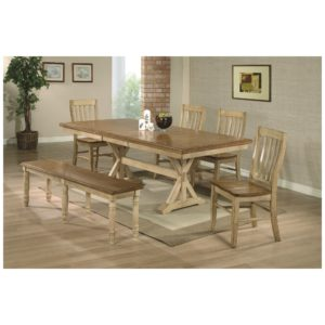 Quails Run 6-Piece Dining Set (Almond/Wheat) by Winners Only