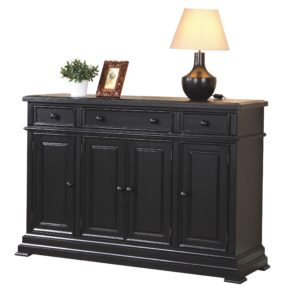 Quails Run 58″ Sideboard (Ebony) by Winners Only