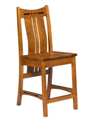 Hayworth Bar Chair by Amish Crafted by Noah Bontrager