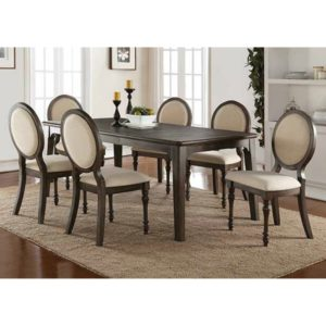 Daphne 7-Piece Dining Set (Birch/Gray) by Winners Only