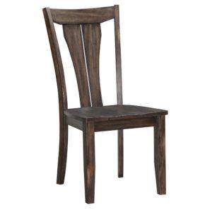 Daphne Fan Back Side Chair (Birch/Grey) by Winners Only