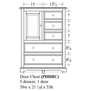 Portland Door Chest by Amish Crafted by Noah Bontrager