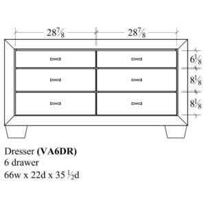 Verona 6 Drawer Dresser by Amish Crafted by Noah Bontrager