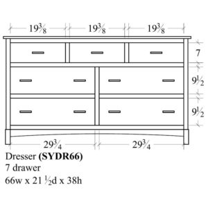 Sydney 7 Drawer Dresser (66W) by Amish Crafted by Noah Bontrager