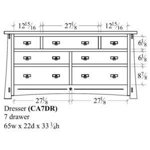 Castlebrook 7 Drawer Dresser by Amish Crafted by Noah Bontrager