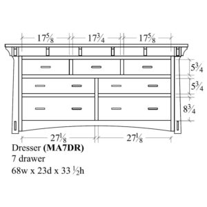 Mayberry 7 Drawer Dresser by Amish Crafted by Noah Bontrager