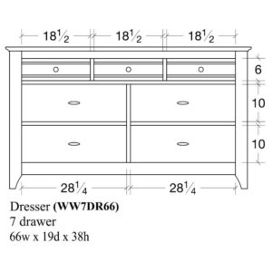Woodrow 7 Drawer Dresser (66) by Amish Crafted by Noah Bontrager