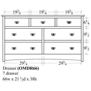 Old Mission 7 Drawer Dresser (66W) by Amish Crafted by Noah Bontrager