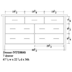 Victor 7 Drawer Dresser (67.5W) by Amish Crafted by Noah Bontrager