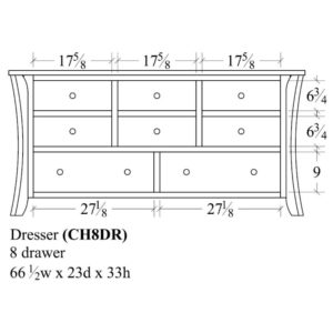 Chandler 8 Drawer Dresser by Amish Crafted by Noah Bontrager