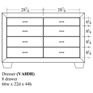 Verona 8 Drawer Dresser by Amish Crafted by Noah Bontrager