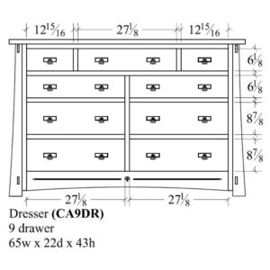 Castlebrook 9 Drawer Dresser by Amish Crafted by Noah Bontrager