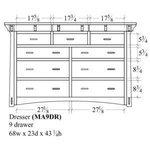 Mayberry 9 Drawer Dresser by Amish Crafted by Noah Bontrager