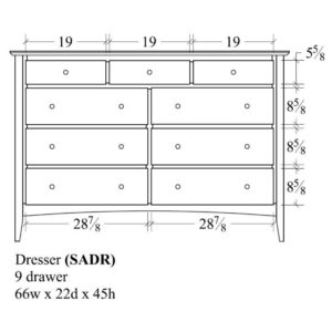 Sedona 9 Drawer Dresser by Amish Crafted by Noah Bontrager