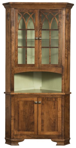Edmonton Corner Hutch by Amish Crafted by Noah Bontrager
