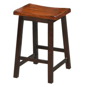 Fifth Avenue 24″ Saddle Barstool (Acacia) by Winners Only