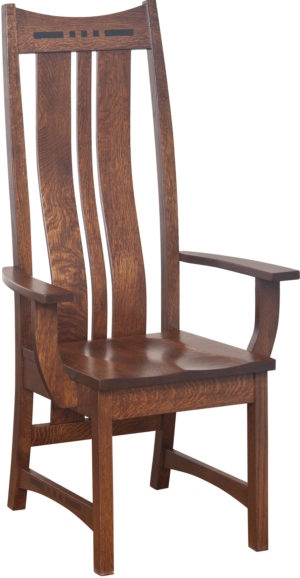 Hayworth Highback Arm Chair by Amish Crafted by Noah Bontrager