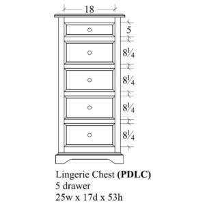 Portland Lingerie Chest by Amish Crafted by Noah Bontrager