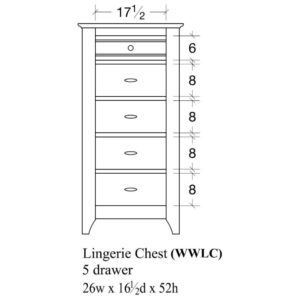 Woodrow Lingerie Chest by Amish Crafted by Noah Bontrager