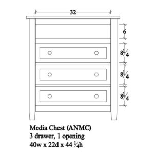 Adrian Media Chest by Amish Crafted by Noah Bontrager