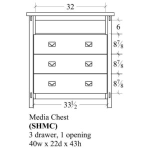 Savannah Media Chest by Amish Crafted by Noah Bontrager