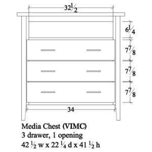 Victor Media Chest by Amish Crafted by Noah Bontrager