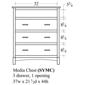 Sydney Media Chest by Amish Crafted by Noah Bontrager