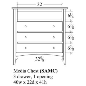Sedona Media Chest by Amish Crafted by Noah Bontrager