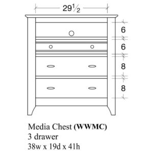 Woodrow Media Chest by Amish Crafted by Noah Bontrager